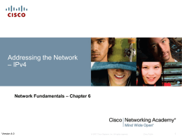Network Fundamentals - Addressing The Network: IPV4 Pt 2