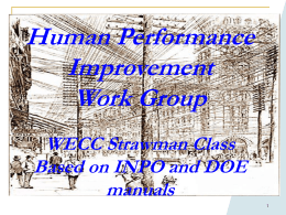 Human Performance Improvement Presentation