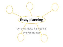 Sidewalk – essay planning PowerPoint