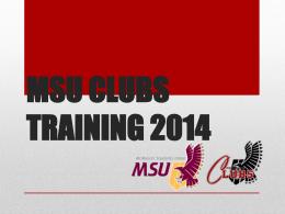 msu clubs training 2014
