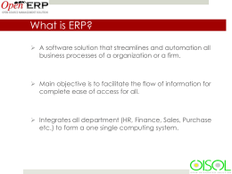 What is ERP? - RDA Cell Ministry of Textile Industry