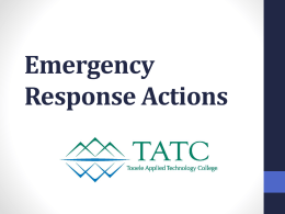 Emergency Response Actions