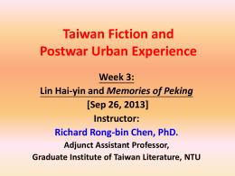 Lin Hai-yin and Memories of Peking