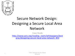 LAN - IT352 : Network Security