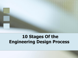 10 Steps of the design process powerpoint