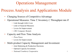 MBPF Inc.: Flow Times - Kellogg School of Management