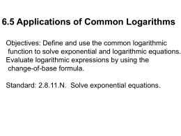 6.5 Applications of Common Logarithms