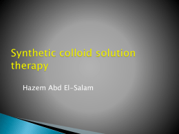Synthetic colloid solution therapy Hazem