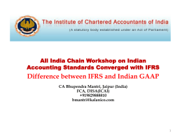 All India Chain Workshop on Indian Accounting - Ludhiana