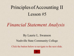 Financial Analysis Presentation - Nashville State Community College