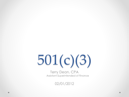 501 (c)(3)