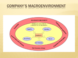 Evaluating a company`s external environment