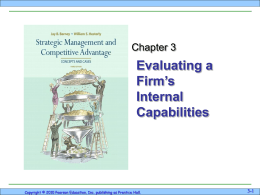 Evaluating a Firm`s Internal Capabilities
