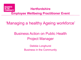 Hertfordshire Employee Wellbeing Practitioner presentation