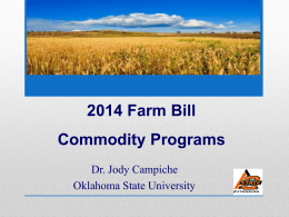 Farm Bill Update - PPT - Oklahoma State University