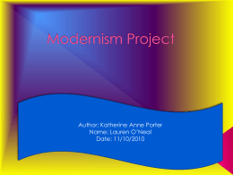 Modernism Project - ChathamCentralEnglish