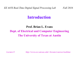 Introduction - The University of Texas at Austin