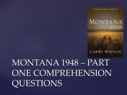 the post war american dream in montana 1948 by larry watson