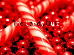 Candy Quiz - getrealmath