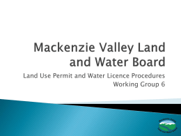 Public Hearing Process - Mackenzie Valley Land and Water Board