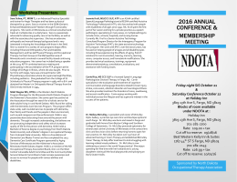 2016 Conference Brochure - North Dakota Occupational Therapy