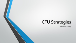 CFU Strategies