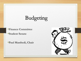 Budgeting - RWU Student Senate
