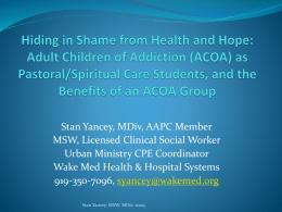 Presentation - Spiritual Care Collaborative