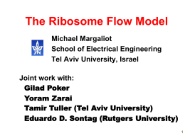 The Ribosome Flow Model: Theory and Applications