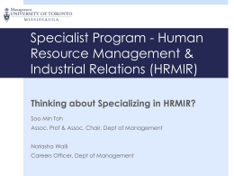 View a PowerPoint presentation on the HRMIR