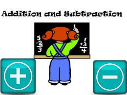 Addition and subtraction in Key Stage 2