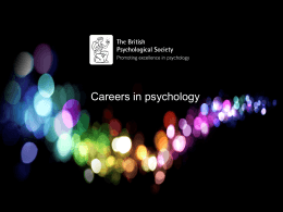 Areas Of psychology - British Psychological Society