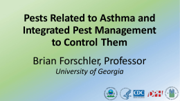 Pests Related to Asthma and Integrated Pest Management to