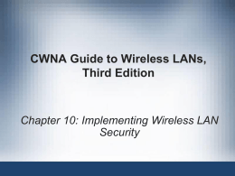 CWNA Guide to Wireless LANs,Third Edition