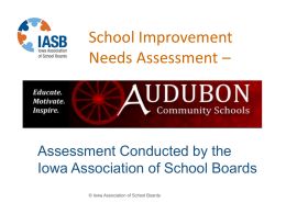 School Improvement Needs Assessment