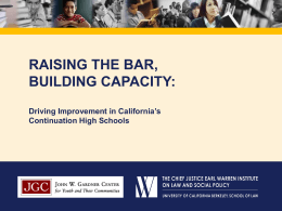 Schools - Policy Analysis for California Education