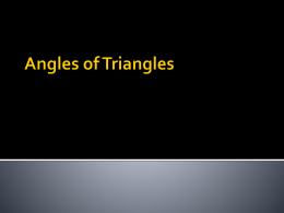 Angles of Triangles