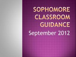 Sophomore Classroom Guidance