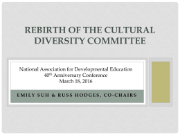 Cultural Diversity Committee