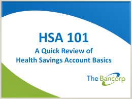 Maximizing Your HSA - The Bancorp