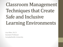 Classroom Management Techniques that Create Safe and Inclusive