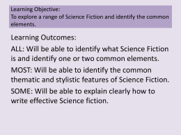 Exploring the science fiction genre - Noel