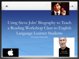 Using Steve Jobs` Biography to Teach a Reading