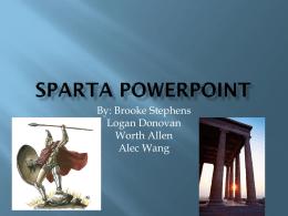 Sparta - 7-2 Social Studies