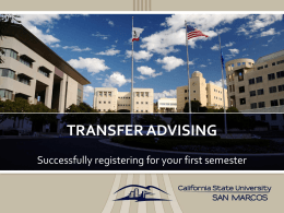 Academic Advising - California State University San Marcos