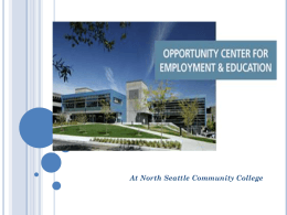 The Opportunity Center for Employment and Education