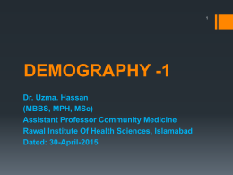 demography -1 - MBBS Students Club