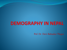 demography in nepal