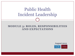 Module 3: Roles, Responsibilities and Expectations