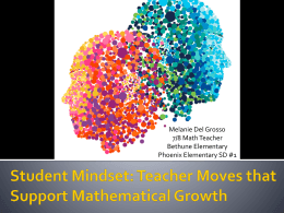 Powerpoint Slides - Connected Mathematics Project